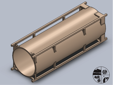 Fig. 2: Initial design of the TuPOD. Image courtesy of Tetonsys.
