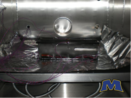 Fig. 7: Final vibration and thermal vacuum testing. Image courtesy of Morehead University.