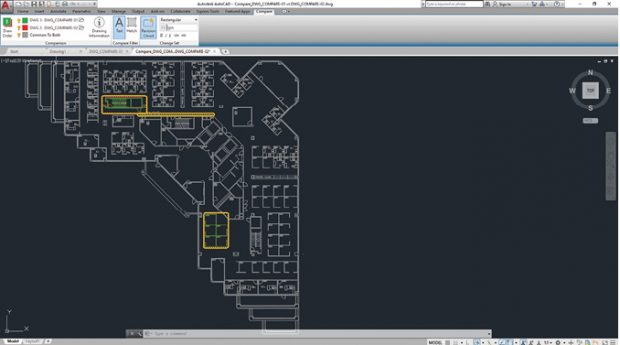 The new Drawing Compare tool enables users to easily identify graphical differences between two versions of any drawing.