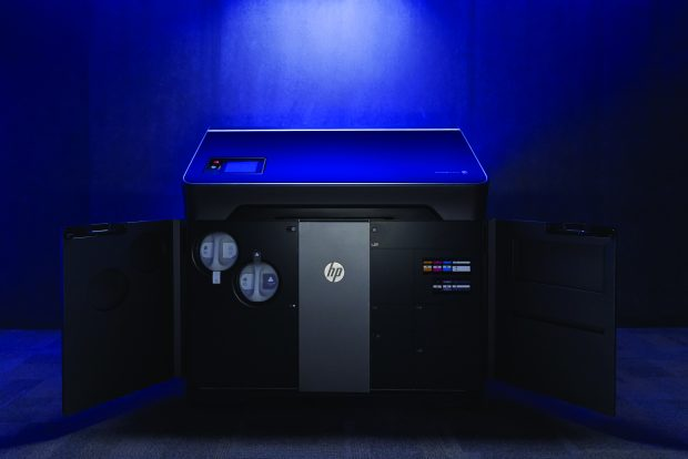 HP's new Jet Fusion 300 / 500 series of compact 3D printers can make engineering-grade functional prototype parts in full color and black or white. Image courtesy of HP Inc.