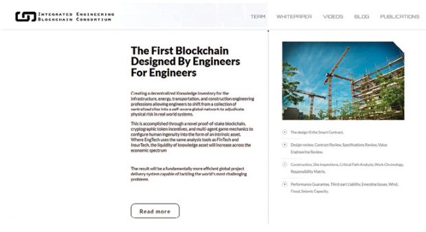 The Integrated Engineering Blockchain Consortium (IEBC.com) plans to launch a blockchain for engineers, by engineers.
