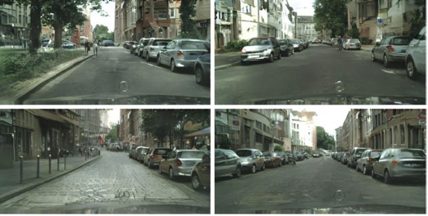 A new DL-powered image synthesis technique from NVIDIA makes it possible to change the look of a street simply by changing the semantic label. San Francisco becomes Barcelona or another city. Although gaming is an obvious use for such a technology, it also can be applied to training autonomous vehicles. Image courtesy of NVIDIA.