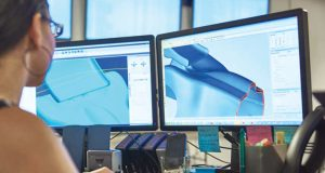 To accelerate digital manufacturing, online portals are based off of CAD models, which users can update according to instant feedback. Image courtesy of Stratasys Direct Manufacturing.