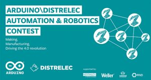 Arduino launched a global contest that challenges users of its open-source electronics platform to create products that help advance the development of Industry 4.0 automation and robotics applications. The contest is being run in partnership with electronics and automation distributor Distrelec and is hosted at the Arduino Project Hub.