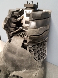 Crash dummy torso showing 3D-printed components. Image courtesy of Humanetics.