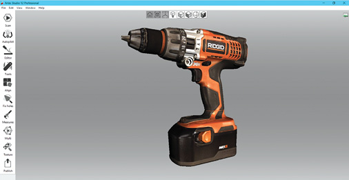 Artec Studio software from scanner maker Artec 3D includes robust tools for editing and aligning scan data. Image courtesy of Artec.
