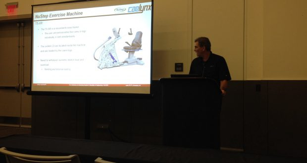 Caelynx helped NuStep improve its cross trainer design using FEA to design a cast part. The next step is 3D metal printing.