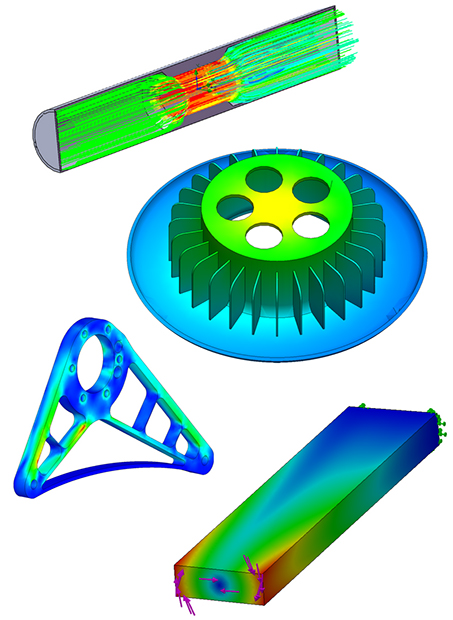 CORTIME can run purely geometrical optimizations and is compatible with SOLIDWORKS Simulation, including static, flow, frequency, motion, thermal and non-linear analyses. Optimizations can run unattended. Image courtesy of Apiosoft ApS.