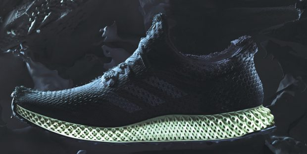 3D printing system developer Carbon's Digital Light Synthesis technology plays an integral role in the textured midsole of the Adidas Futurecraft 4D shoes. Image courtesy of Carbon.