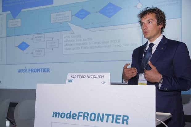 ESTECO product manager Matteo Nicolich provides details on the company's plan to help customers optimize their digital engineering processes. Image courtesy of ESTECO.