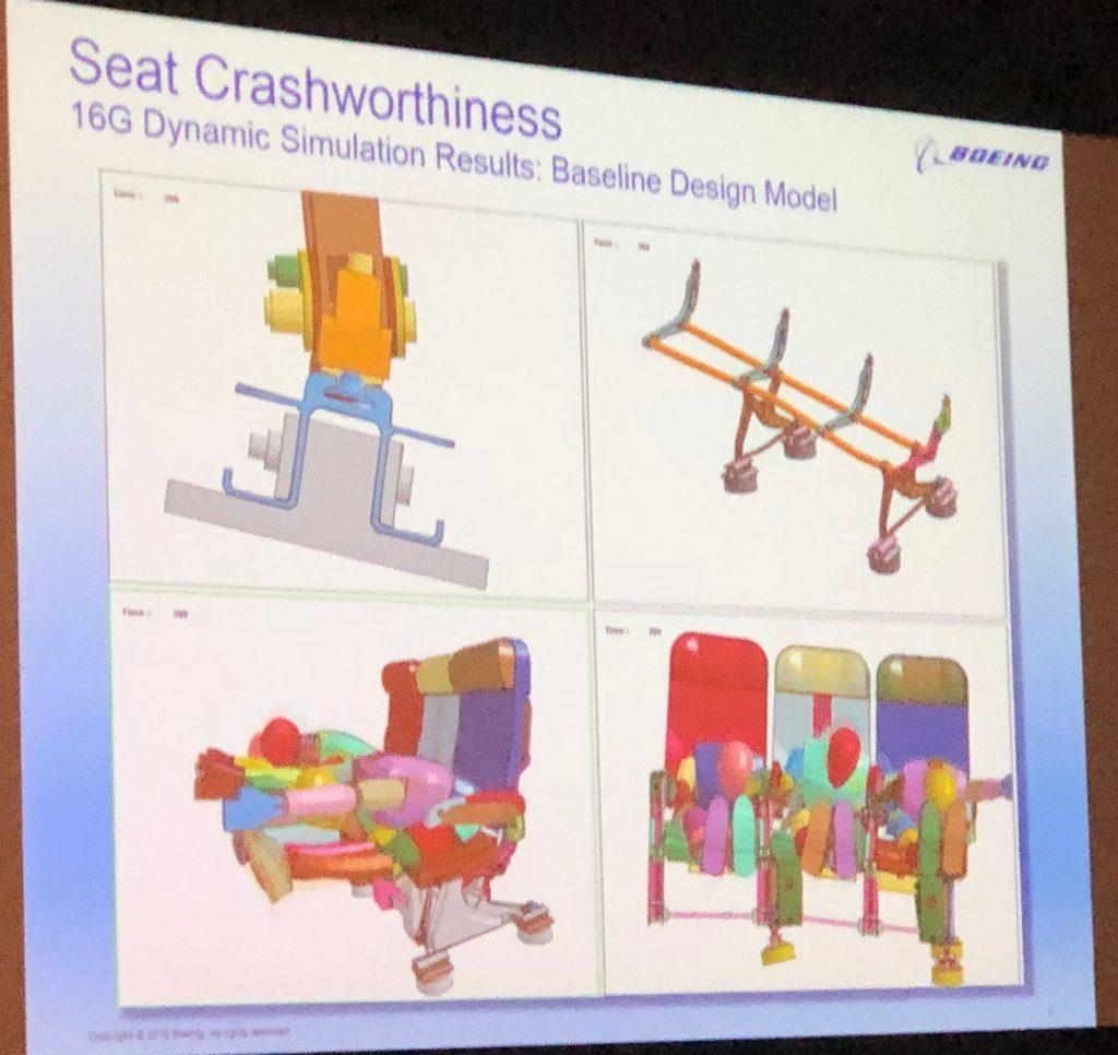 Simulating the crashworthiness of airline seats.