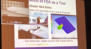 An example of how bird strike simulation was used in aircraft certification.