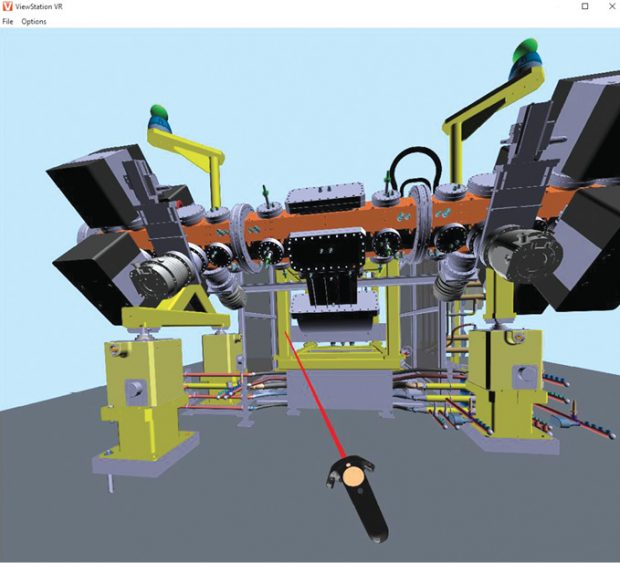 3DViewStation VR Edition works with CAD files and can be driven from PLM systems. Images courtesy of KISTERS.