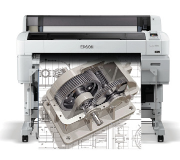 T5270D with technical drawing and gear rendering. Image courtesy of Epson.