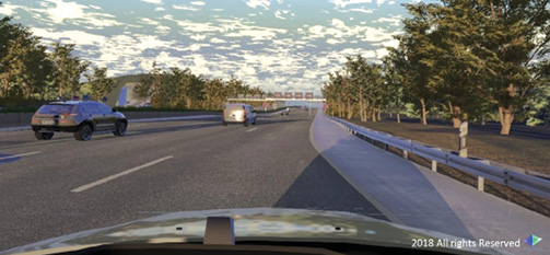 Cognata combines 3D geographic data with autonomous driving software to create virtual test drive environments. Image courtesy of Cognata.