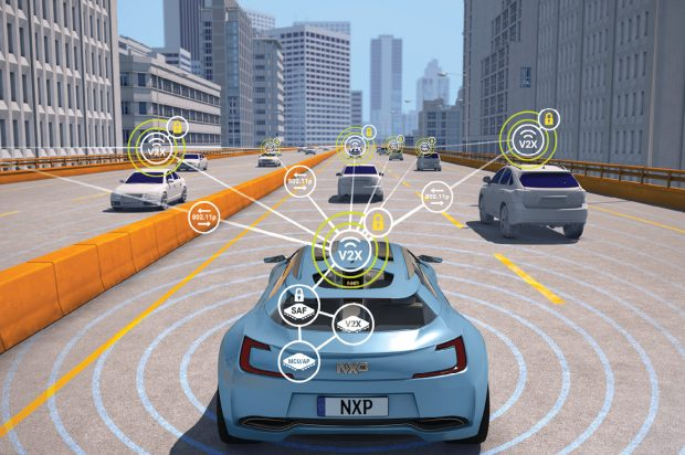 DSRC aims to provide a dedicated secure safety channel for secure communication of safety messages and transportation data in real time. An example of this technology can be seen in NXP Semiconductors' next-generation RoadLINK, the SAF5400. Images courtesy of NXP Semiconductors.