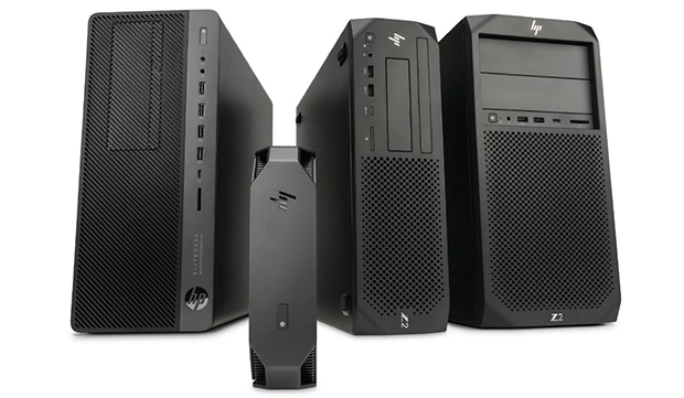 The recently introduced HP Z2 G4 lineup and the HP EliteDesk 800 Workstation Edition G4. These configurable fourth-generation systems come with built-in, end-to-end HP security services. Image courtesy of HP Inc.