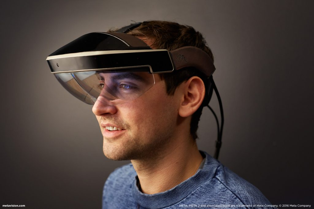 Dell struck a partnership with AR gear developer Meta. Shown here is the Meta 2 development kit. Image courtesy of Meta.