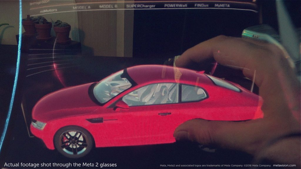 Meta uses hologram-like digital objects you can interactive with in the real world via augmented reality. Image courtesy of Meta.