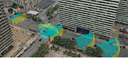 Cesium supplies software for gathering and selectively streaming 3D data in real time for autonomous vehicle visualization. Image courtesy of Cesium.