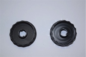 Plastic gears and enclosures for a medical dispensing device prototype, made by Datum3D for a client, were produced to final test form by relying on machining over AM. Traditional processes have advantages in meeting tolerances, aesthetics and high production volumes. Above on the right is an example of a functional, machined prototype of the gear. The AM part is on the left.