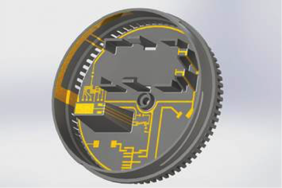 Shown above is a smoke detector that illustrates how design and functional integration are simplified using three-dimensional molded interconnect technology. Whether rigid or flexible, printed circuit boards are a virtually indispensable part of electronic devices as interconnect devices. Plastic molded interconnect devices (MIDs) offer many advantages with regard to connection technology, including the combination of electrical and mechanical functions in a single component. This makes it possible to use the housing and other molded inner structures as an interconnect device, sometimes eliminating the need for a PCB. Source: Multiple Dimensions AG