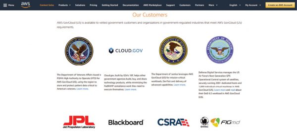 AWS launches Cloud.gov to cater to government agencies with specific ITAR requirements. Image courtesy of AWS.