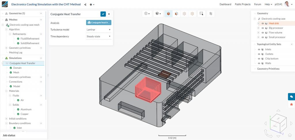 Fig. 1: Screenshot of the SimScale Workbench 2.0.