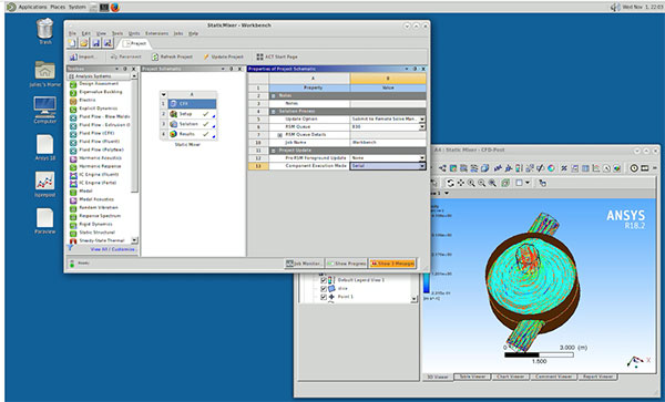 ANSYS Workbench includes tools for seamless submission of simulations to an HPC cluster.Image Courtesy of ANSYS.