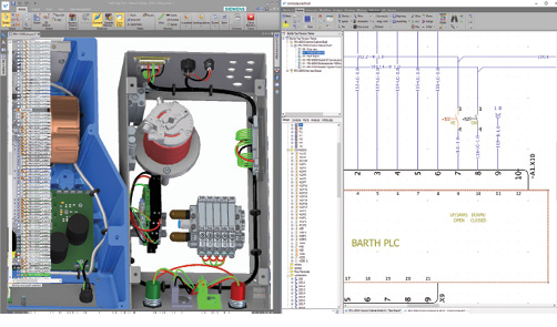 The PCB and electrical add-ons integrate PCB design and wiring with Solid Edge models. Changes made in one environment automatically update in the other.
