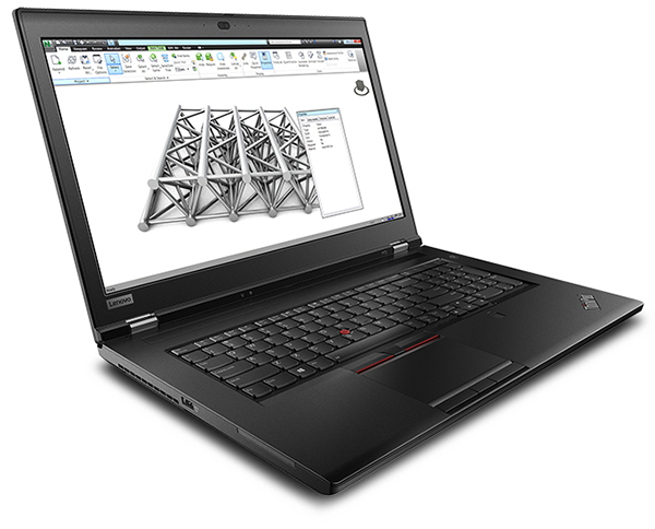 The ThinkPad P73 is a 17-in. workhorse with a Dolby Vision 4K UHD screen equipped with the latest Intel Xeon and Core processors, as well as NVIDIA Quadro RTX graphics. Image courtesy of Lenovo.