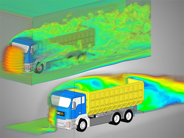 Discovery Live provides instantaneous simulation results through an interactive design exploration experience for fluids, structural, & thermal studies. Image courtesy of ANSYS.