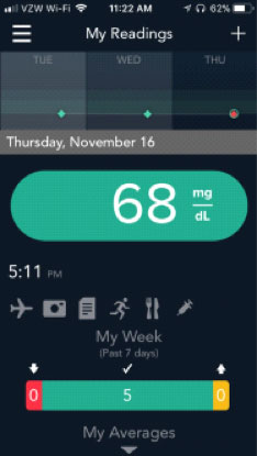 A phone app enables whole-body diabetes-care monitoring on the go. Image courtesy Ascensia Diabetes Care.