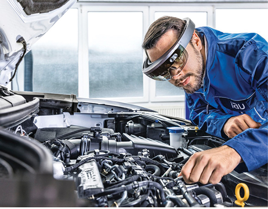 Hardware, such as augmented reality headsets, is intrinsically tied to software. It's difficult to design one without understanding the other. Image courtesy of IAV Automotive Engineering Inc.
