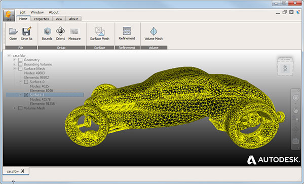 Autodesk Surface Wrap by Autodesk - External Flow Geometry Mesh Tool.