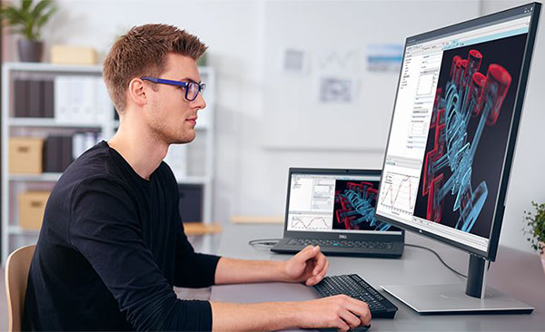 The Dell UltraSharp 32 4K USB-C Monitor: U3219Q features four times more detail than Full HD with 3840x2160 Ultra HD 4K resolution, as well as Picture-In-Picture (PIP) and Picture-By-Picture (PBP) capabilities. Image courtesy of Dell.