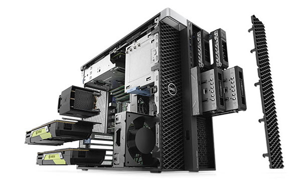 Professional workstations like the Dell Precision 5820 can be equipped with dual NVIDIA GPUs to meet professional design and engineering challenges. Image courtesy of Dell.