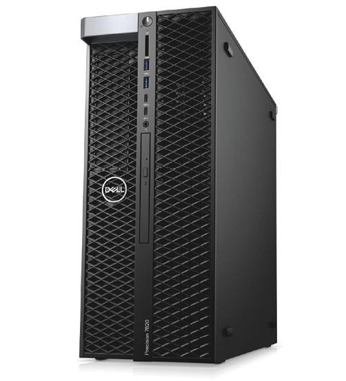 The Dell Precision 7820 packs dual-CPU power into a deceptively compact case. Image courtesy of Dell.