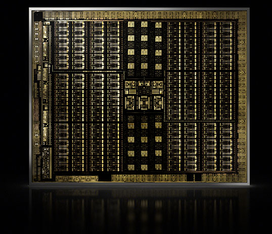 NVIDIA's Turing architecture provides foundation for the new line of Quadro RTX GPUs. Image courtesy of NVIDIA.