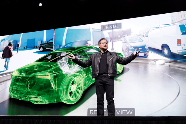 NVIDIA CEO Jensen Huang concludes GTC 2018 keynote with Holodeck demo. Image courtesy of NVIDIA.
