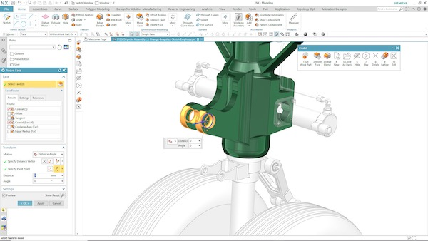 Machine learning monitors user actions to dynamically modify the UI and determine the right NX commands. Image Courtesy of Siemens PLM Software