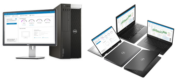 Dell Precision Optimizer Premium uses AI to improve the performance of applications running on Dell Precision workstations. Image courtesy of Dell