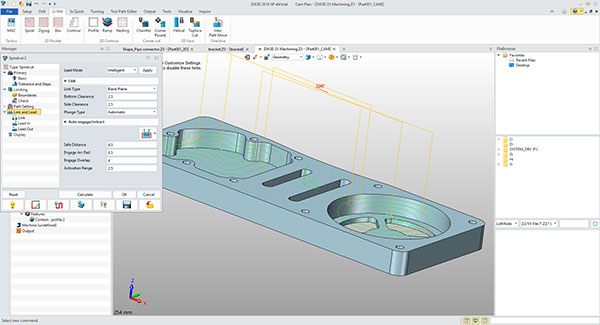ZW3D includes both CAD and CAM capabilities, making it easy to generate and then simulate and verify the toolpaths and NC code needed to manufacture your parts. Image courtesy of ZWSoft via David Cohn.