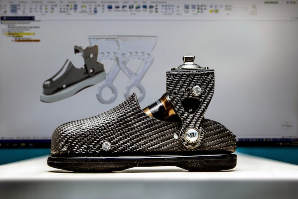 Generative design tools in SolidEdge helped model portions of the prosthetic foot to achieve specific lightweighting characteristics. Image Courtesy of Siemens PLM Software