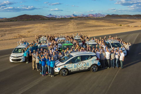 SAE International's AutoDrive three-year competition recreates real-world engineering challenges for student teams. Image Courtesy of SAE International.