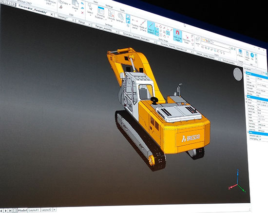 BricsCAD Mechanical, due out later this year, replaces existing add-on versions of BricsCAD for mechanical design. Image courtesy of Randall Newton.
