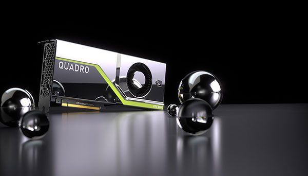 The NVIDIA Quadro RTX 8000, Quadro RTX 6000 and Quadro RTX 5000 bring hardware-accelerated ray tracing, AI, advanced shading and simulation to creative professionals. Image courtesy of NVIDIA.