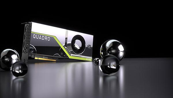 The NVIDIA Quadro RTX 8000, Quadro RTX 6000 and Quadro RTX 5000 bring hardware-accelerated ray tracing, AI, advanced shading and simulation to creative professionals. Image courtesy of NVIDIA.