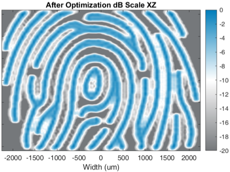 Virtual fingerprint image after beamforming optimization. Image Courtesy of OnScale