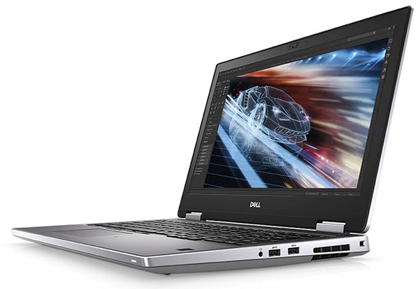 The new Dell Precision can be configured with NVIDIA Quadro RTX graphics and up to a 97Whr battery with ExpressCharge. Image courtesy of Dell.